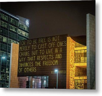 Blink Cincinnati - Freedom Center Metal Print