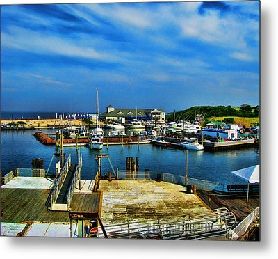Block Island Marina Metal Print by Lourry Legarde