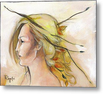 Blonde Autumn Left Metal Print by Jacque Hudson