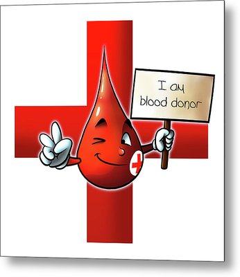 Blood Donor Metal Print by Petar Lazarov