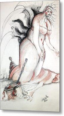 Blood Drink Metal Print by Jacabo Navarro