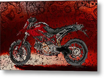 Bloody Italian Beauty Metal Print by Radoslaw Kowzan