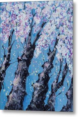 Blooming Trees Metal Print