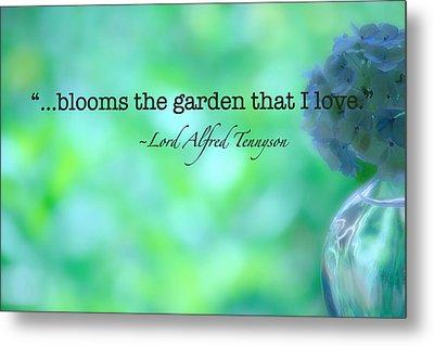 Blooms The Garden Metal Print by Bonnie Bruno
