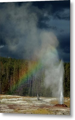 Blow Hole Rainbow Metal Print