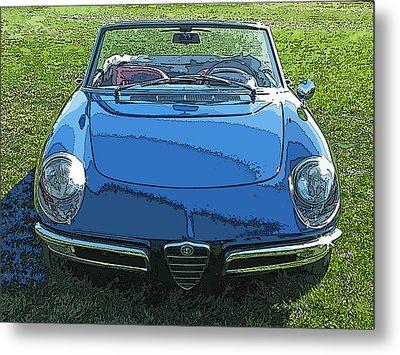 Blue Alfa Romeo Spyder Metal Print