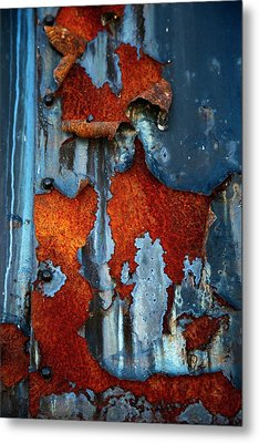 Metal Print featuring the photograph Blue And Rust by Karol Livote
