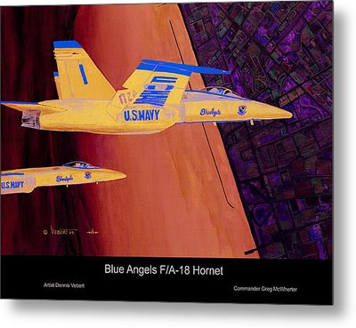 Blue Angels Metal Print by Dennis Vebert