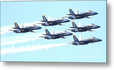 Blue Angels Hornet F18 Supersonic Jet Airplane . 7d2672 Metal Print by Wingsdomain Art and Photography