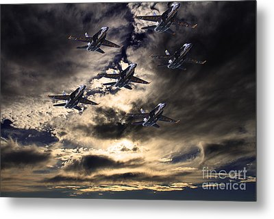 Blue Angels In The Sky Metal Print by Wingsdomain Art and Photography