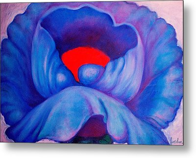 Blue Bloom Metal Print by Jordana Sands