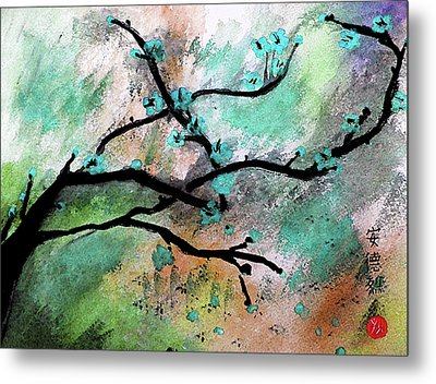 Blue Blossom Metal Print by Andrea Realpe