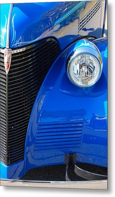 Blue Chevy Metal Print