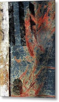 Blue Cop Trio Abstract #2 Metal Print by Anita Burgermeister