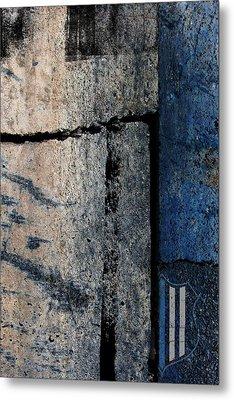 Blue Cop Trio Abstract #3 Metal Print by Anita Burgermeister