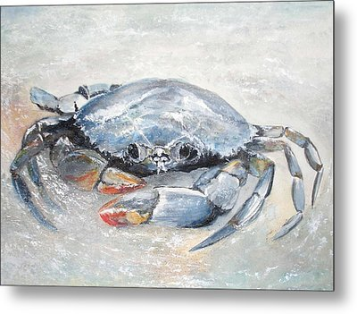 Blue Crab Metal Print