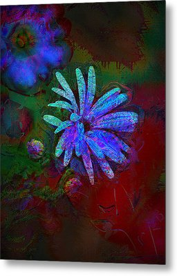 Metal Print featuring the photograph Blue Daisy by Lori Seaman