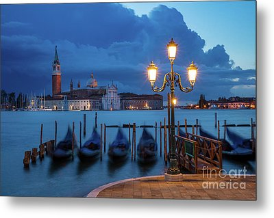 Metal Print featuring the photograph Blue Dawn Over Venice by Brian Jannsen