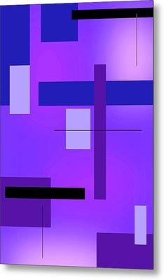 Blue Design 2 Vertical  Metal Print