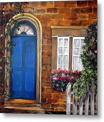 Blue Door 2 Metal Print by Anna-maria Dickinson