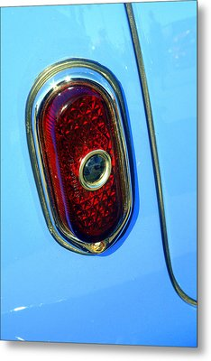 Metal Print featuring the photograph Blue Dot Taillight by Lynn Bawden