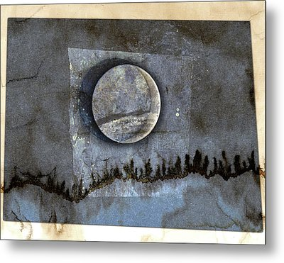 Blue Eclipse Metal Print