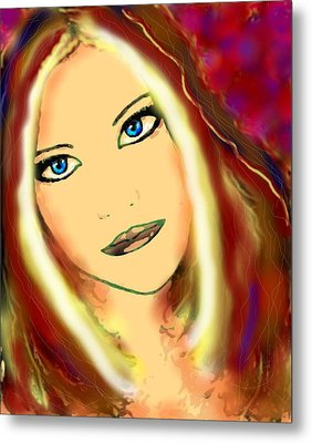 Blue Eyes Metal Print by Natalie Holland