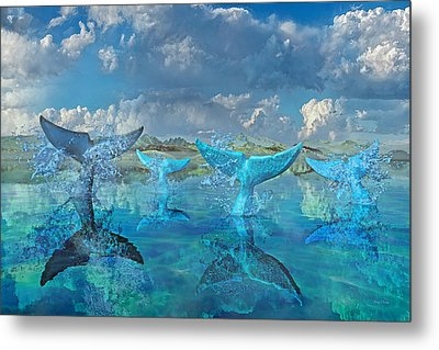 Blue Flags Metal Print by Betsy Knapp