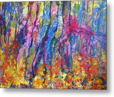 Blue Forest Metal Print by Koro Arandia
