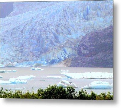 Blue Glacier Metal Print by Mindy Newman