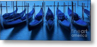 Metal Print featuring the photograph Blue Gondolas by Brian Jannsen
