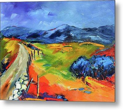 Blue Hills By Elise Palmigiani Metal Print by Elise Palmigiani