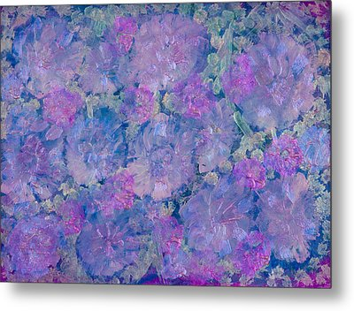 Blue Iridescent Metal Print by Don  Wright