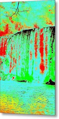 Blue Lava Waterfall Metal Print by Erika Swartzkopf