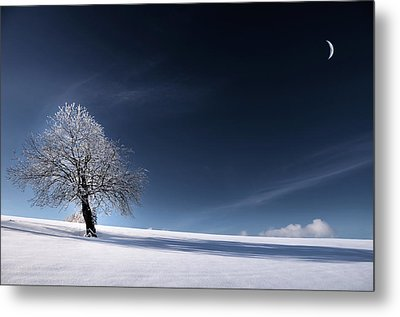 Metal Print featuring the photograph Blue Like Snow by Philippe Sainte-Laudy