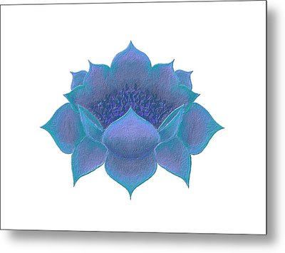 Metal Print featuring the digital art Blue Lotus by Elizabeth Lock