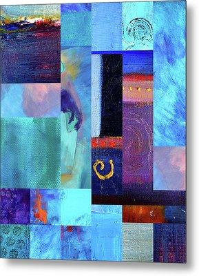 Blue Love Metal Print by Nancy Merkle