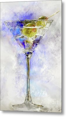 Blue Martini Metal Print