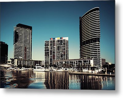 Blue Melbourne Metal Print