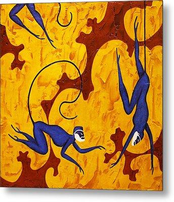 Blue Monkeys No. 45 Metal Print