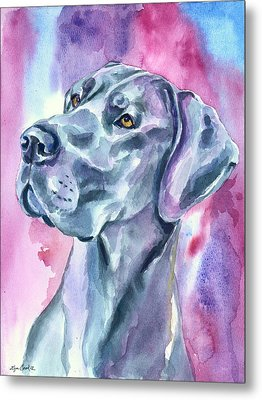 Blue Mood - Great Dane Metal Print
