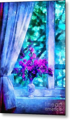 Blue Mood Metal Print by Shirley Stalter
