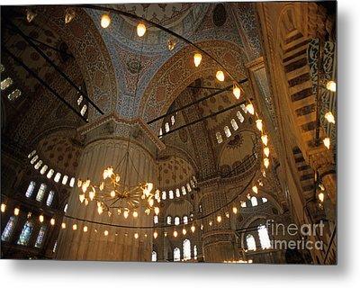 Blue Mosque Interior Metal Print by Sami Sarkis