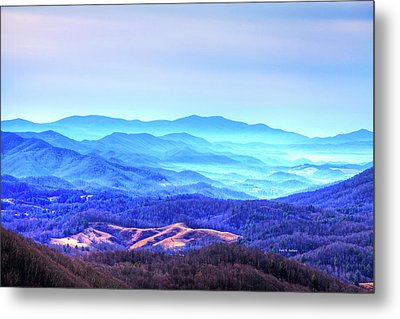 Blue Mountain Mist Metal Print