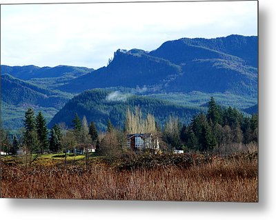 Metal Print featuring the photograph Blue Mountain by Sergey Nassyrov