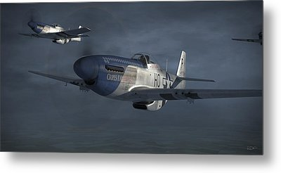 Blue Nosers Metal Print by Robert Perry