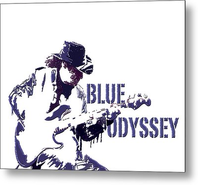 Blue Odyssey Metal Print