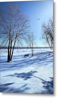 Metal Print featuring the photograph Blue On Blue by Phil Koch