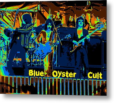 Blue Oyster Cult Jamming In Oakland 1976 Metal Print