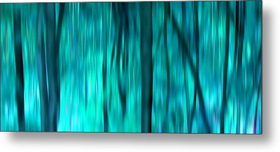 Blue Rain Forest Metal Print